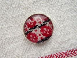 Metallknappar med dräkttyg(g) / 民族衣装の生地のボタン