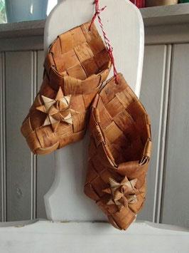 Prydnad skor av näver / 白樺の靴飾り