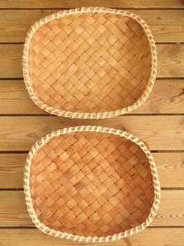 Näverkorg rektangel (L) / 白樺樹皮のトレイ(L)