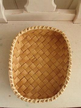 Näverkorg rektangel (M) / 白樺樹皮のトレイ(M)