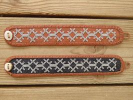 Samisk armband / サーミ族のピューター刺繍ブレスレットC-2