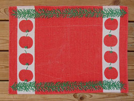 Jultablett äpplen / クリスマスプレイスマット りんご柄