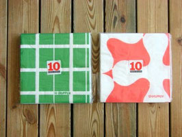 pappersservetter 10Gruppen 10st med påse  ペーパーナプキン 10グルッペン 10枚組袋入