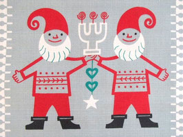 Julbonad tomte och julgran / クリスマスのクロス サンタとツリー