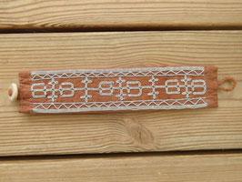 Samisk armband / サーミ族のピューター刺繍ブレスレットB-5