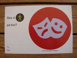 Posten Bumerangkort(röd) / Posten 往復ハガキ(赤)