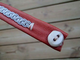 Samisk armband / サーミ族のピューター刺繍ブレスレット L-8 キャメル