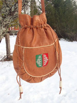Väska i renskinn i form av samisk kaffepåse / コーヒー袋型のショルダーバッグ