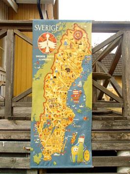 Sverige karta / タペストリー スウェーデン地図