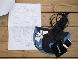 Material för samisk väska / サーミのピューター刺繍バッグ用キット