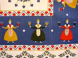 Duk kvinnor med ljusstake / キャンドルを持った女性のクロス