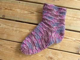 beskrivning av strumpor / ノールビンドニングで作る靴下のレシピ