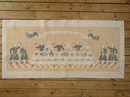 Jobs Handtryck vintage tavla ¨Nu Alla Goda Vänners Skål, Gutår¨/ ヨブスプリント ヴィンテージタペストリー 「さあ佳き友よ、乾杯しよう」