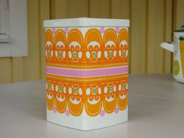 ira kaffeburk orange / ira 四角ティン缶 オレンジ