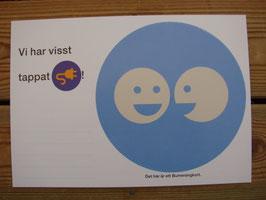 Posten Bumerangkort(ljusblå) / Posten 往復ハガキ(水色)