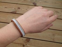 Samisk armband / サーミ族のピューター刺繍ブレスレットA-1