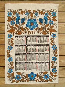Almenacka handduk 1977 / 1977年カレンダーのキッチンタオルタペストリー