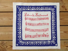 "Jobs Handtryck vintage tablett ""Leksands Brudmarsch"" / ヨブスヴィンテージタブレット「レクサンド 結婚行進曲」"