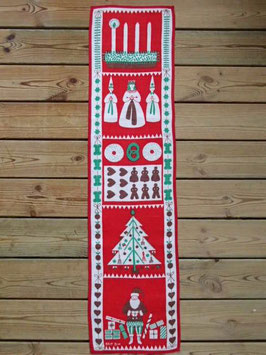 Julbonad Advent / クリスマスタペストリー アドベント 赤A