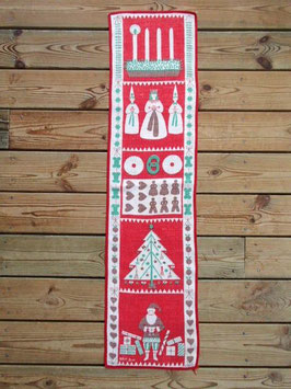 Julbonad Advent / クリスマスタペストリー アドベント 赤B