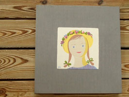 Jobs Handtrycks vintage  ヨブスプリント ヴィンテージクロス 夏の少女(グレー)
