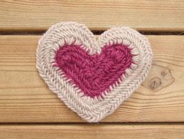 """beskrivning av """"hjärta(dubbel)"""" / ノールビンドニングのハート(ダブル)"""