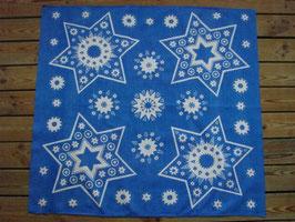 Blå julduk med stjärnor / 青いクリスマスのテーブルクロス 星