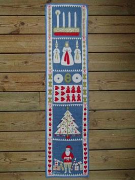 Julbonad Advent (blå) / クリスマスタペストリー アドベント ブルー