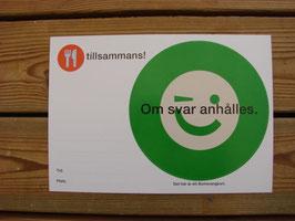 Posten Bumerangkort (grön) / Posten 往復はがき(緑)