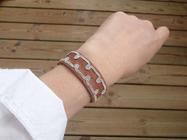 Samisk armband / サーミ族のピューター刺繍ブレスレットB-2