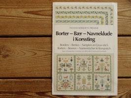 Border-bär i Korssting / クロスステッチのボーダーとベリー