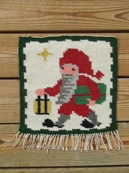 Bildväv, jultomte med lyktan / 絵織物 ランタンを持ったサンタ