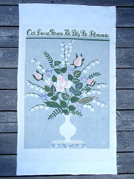 """Jobs Handtryck vintage tavla """"Och desse rosor för dig"""" / ヨブスヴィンテージタペストリー「このバラをあなたに」"""