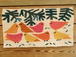 "bildväv ""fåglar"" / 絵織物 鳥たち"