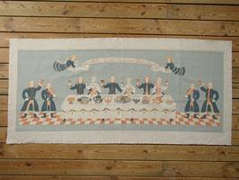 Jobs Handtrycks vintage tavla ¨Nu Alla Goda Vänners Skål, Gutår¨ ヨブスプリント ヴィンテージタペストリー 「さあ佳き友よ、乾杯しよう」