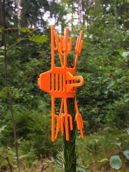volk's baum verbissschutz - Terminaltriebschutz (Orange)