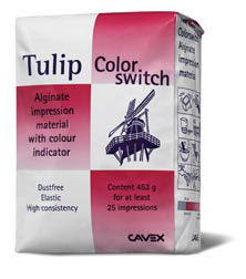 Alginato Tulip Color Switch. Marca Cavex.