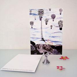 Airballoon postcard