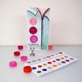 BottleCapButtons Pink