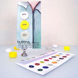 BottleCapButton sale white/yellow