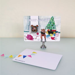 Monsters love Christmas cards