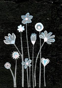 Black Flowers card