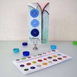BottleCapButton Blue