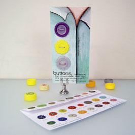 BottleCapButton purple/ grey/yellow