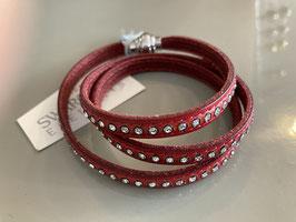 Wickelarmband Deluxe von Qudo in rot