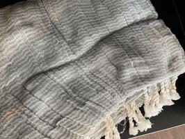 Passigatti Hamam-Tuch grau/weiss