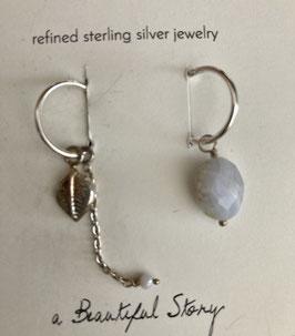 Ohrringe silber von a beautiful Story Blatt