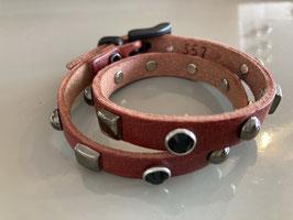 Wickelarmband in Leder rot