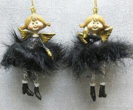 Formano Engel schwarz gold Weihnachten Deko-Idee edel