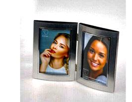 Formano Doppel Fotorahmen Bilderrahmen zusammenhängend Geschenk Liebe Familie